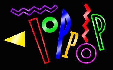 TOPPOP logo og vignett NRK 1989